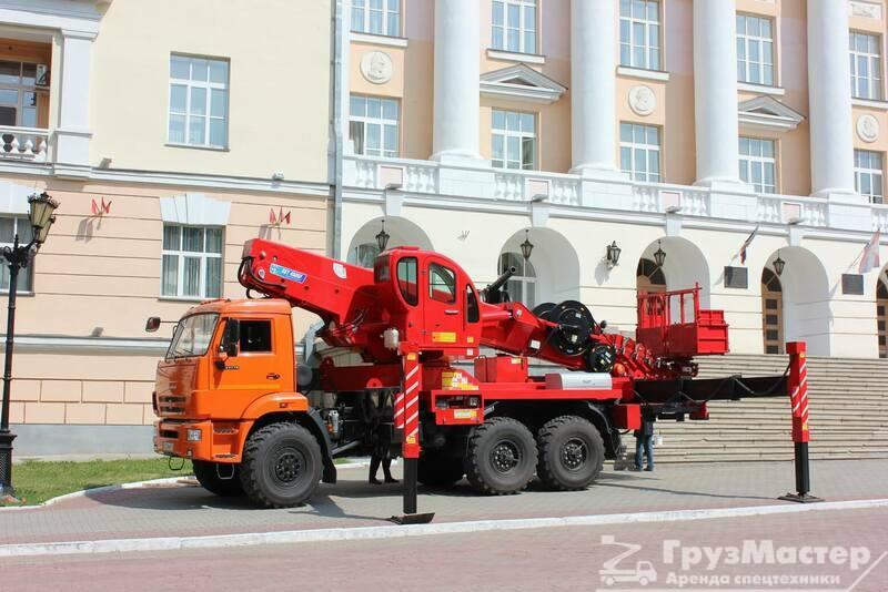 аренда автовышки-вездехода камаз москва и область
