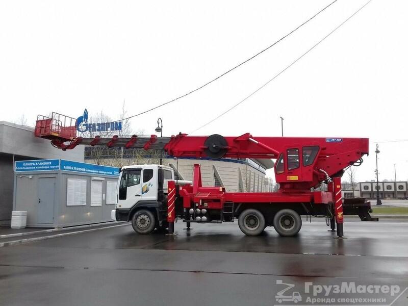 аренда автовышки 55 метров в москве