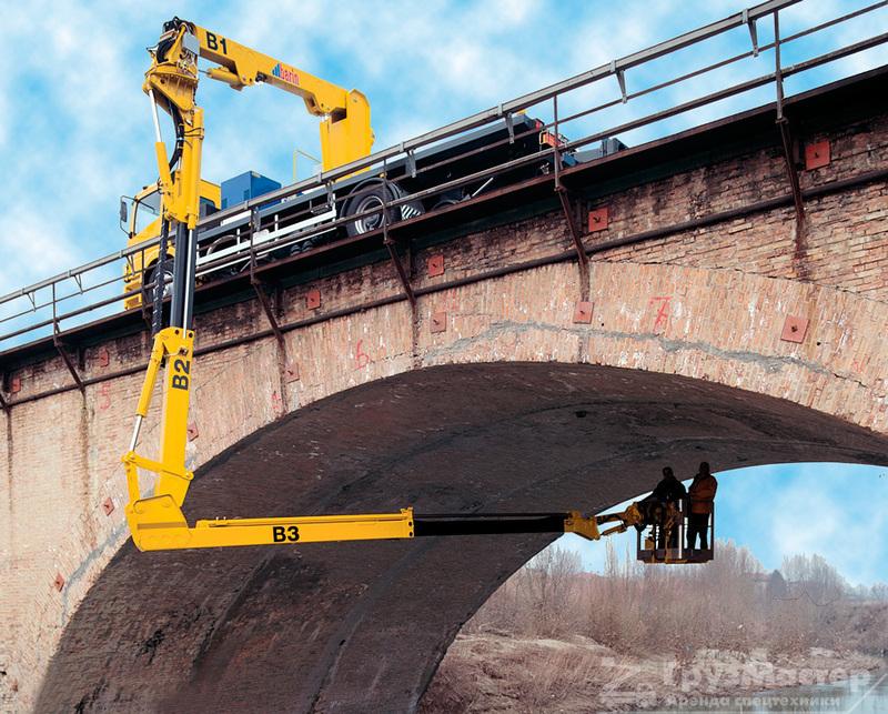Эстакадная мостовкая автовышка грузмастер аренда в москве