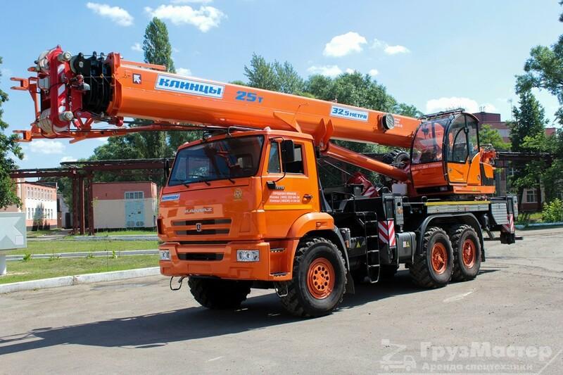 автокран 25 тонн 31 метр аренда в москва