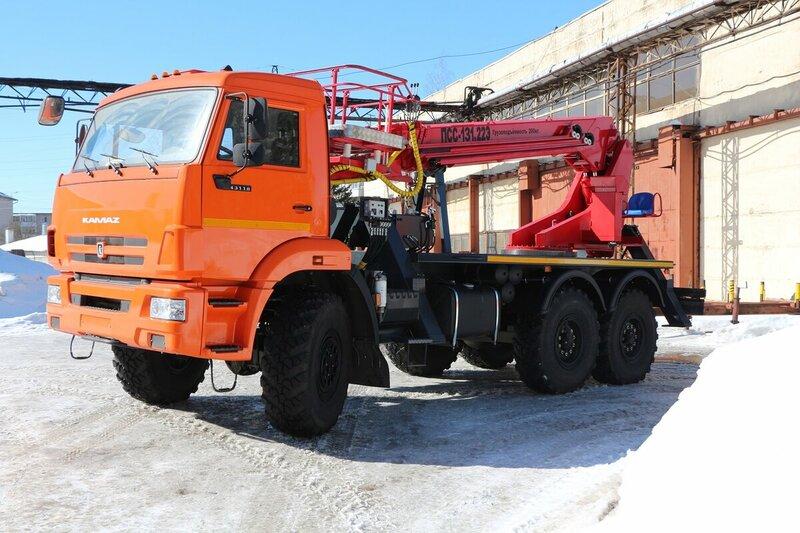 аренда автовышки-вездеход 28 метров камаз москва